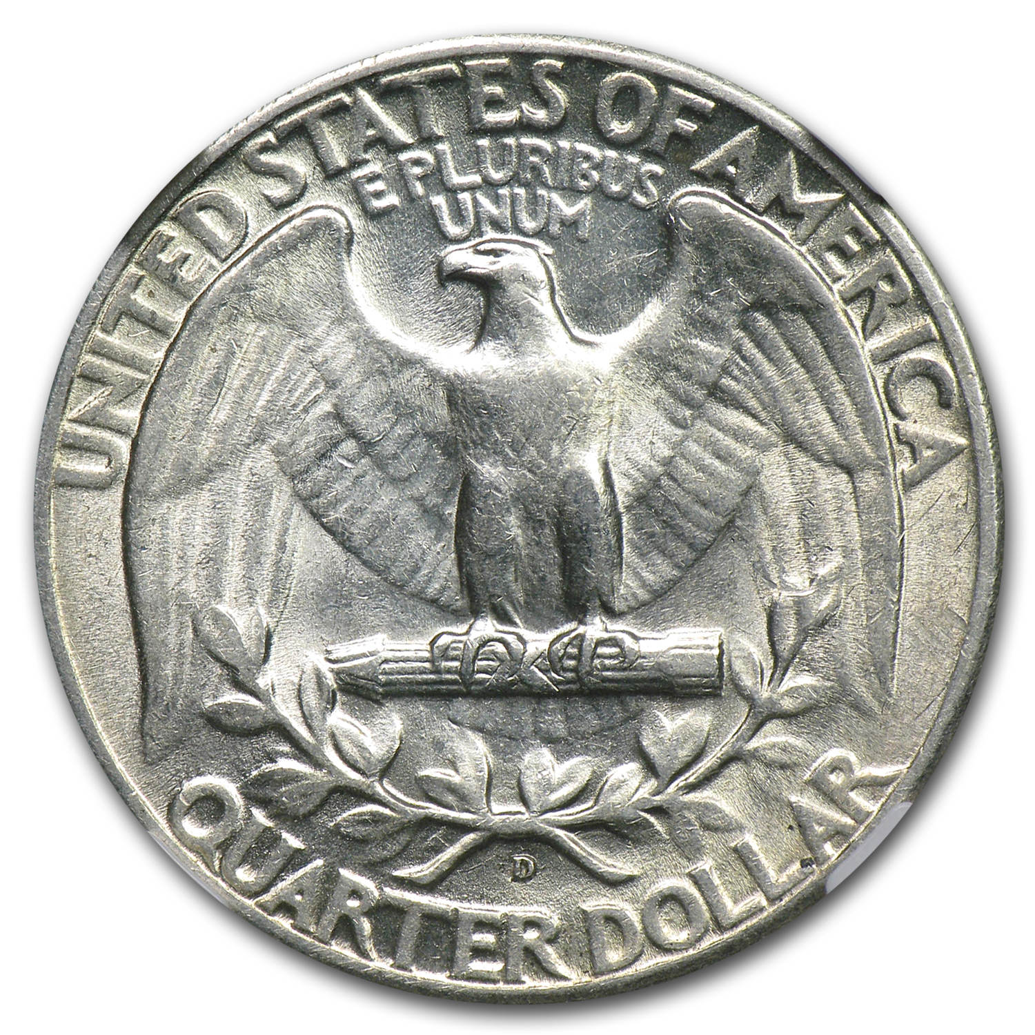 1936-D Almost Uncirculated-55 NGC Washington Quarter